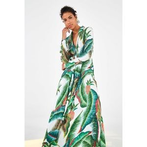 Farm Rio Forest Palm Maxi Dress New Long Skeeve